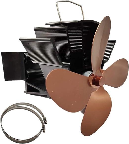 BINGHONG3 - Ventilador para Chimenea Colgante (4 Hojas, Funciona ...
