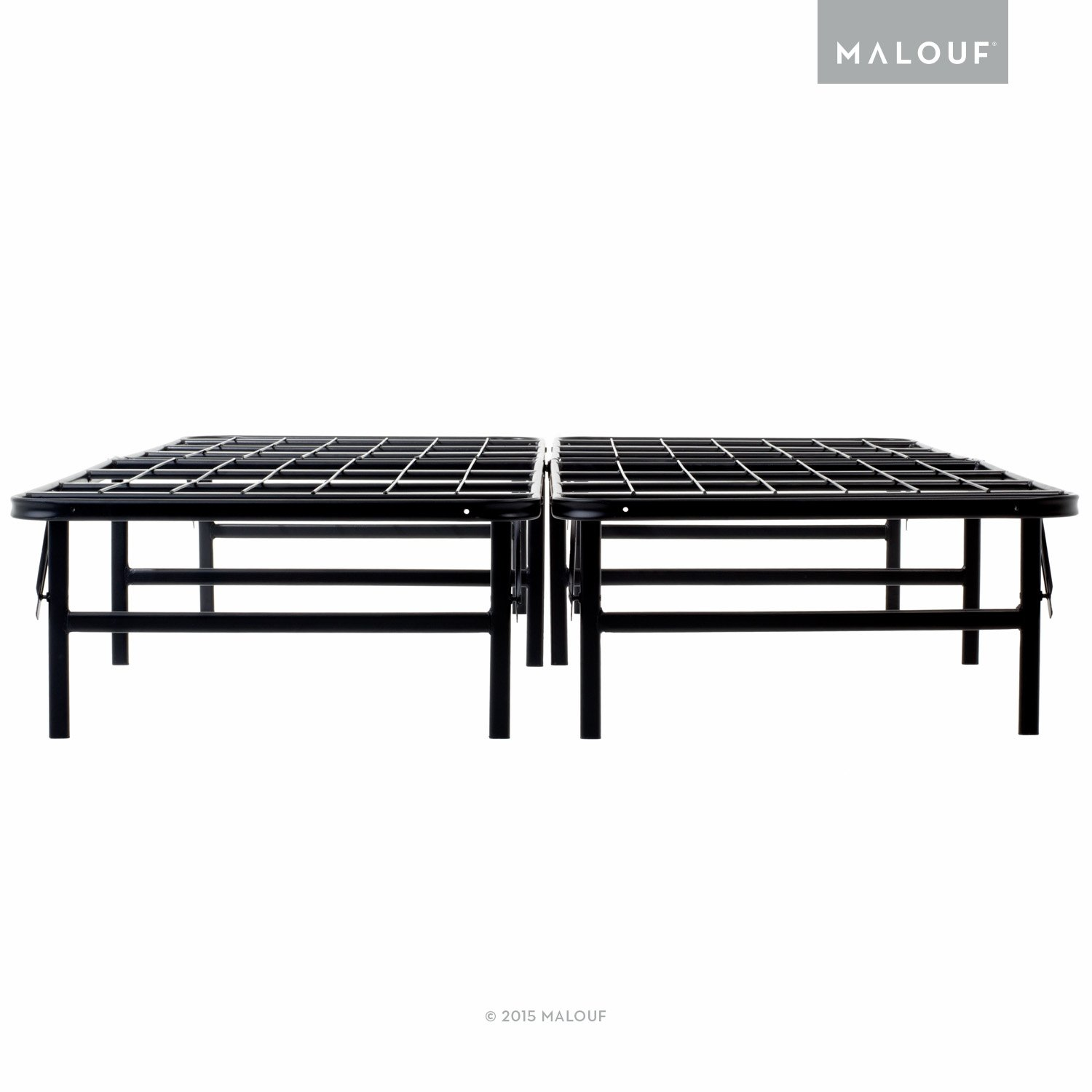 Amazon.com: MALOUF STRUCTURES HIGHRISE Folding Metal Bed Frame 13 ...