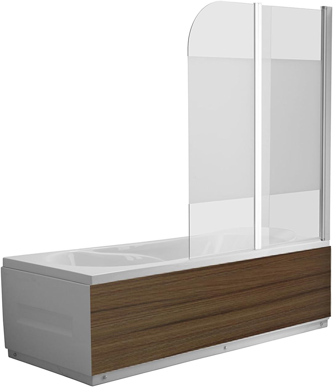 Vidrio Mampara Dallas satén Cristal bañera plegable pared ducha pared bañera plegable pared al nano-recubrimiento – Vidrio de 6 mm – plegable: Amazon.es: Hogar