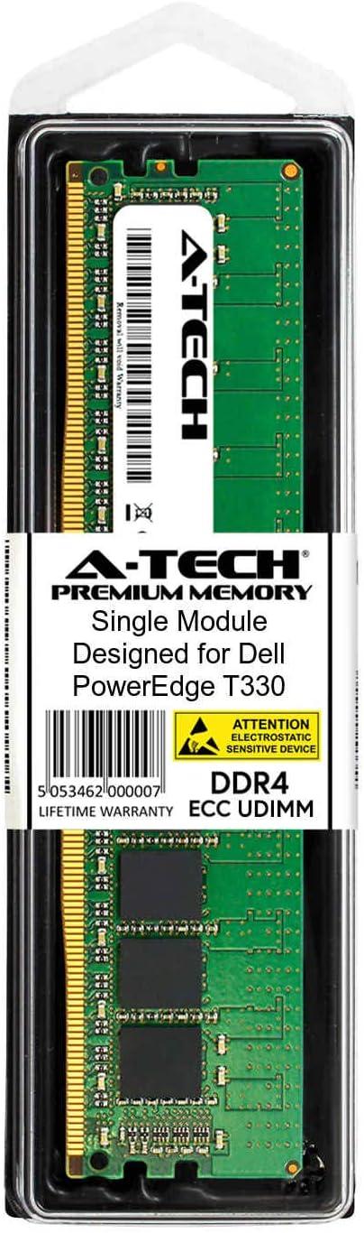A-Tech 8GB Module for Dell PowerEdge T330 AT316655SRV-X1U5 Server Specific Memory Ram DDR4 PC4-17000 2133Mhz ECC Unbuffered UDIMM 2Rx8