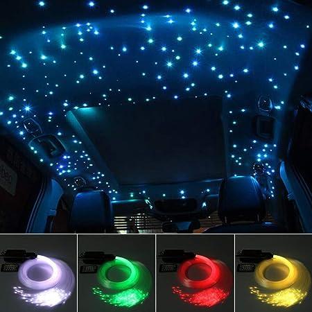 16W Car Use RGBW Music LED Fiber Optic Star Ceiling Light Kit 200pcs*0.75mm*2M