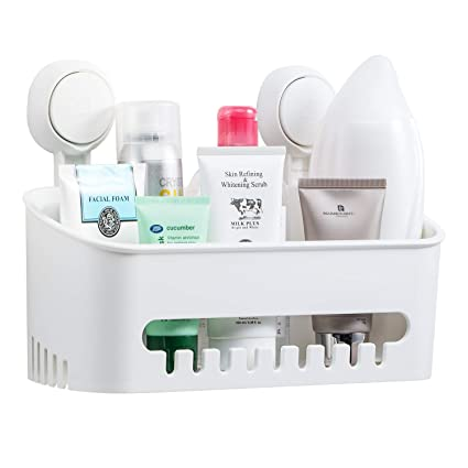 Ilikable Shower Caddy Suction Cup Bathroom Shelf Removable Drill Free  Shower Shelf Organizer Shampoo Holder