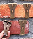 Set 4 Brick Clip Fastener Hangers Hanging Decoration Brick Wall Fireplace Hooks by Unbranded