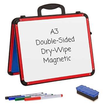 Cuña pizarras blancas - A3 - Borrado en seco magnético/doble ...