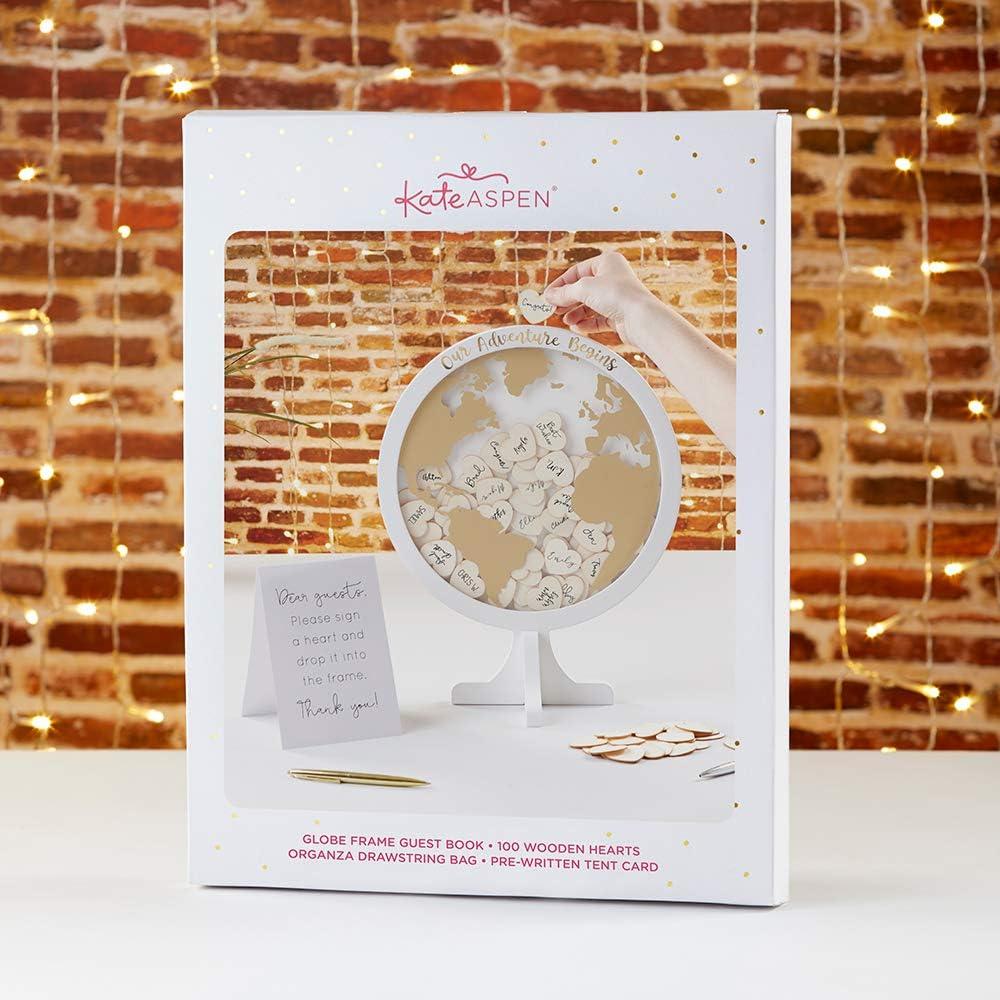 One Size Kate Aspen 22101NA Wedding Guest Book Globe Guestbook Alternative White