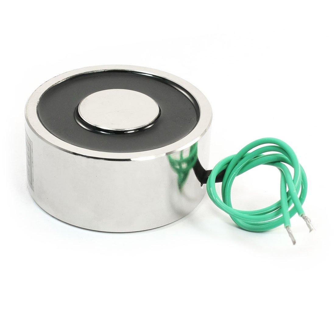 Uxcell Lifting Magnet Electromagnet Solenoid Lift Holding, 12V, 176 lb./80 kg, 65 mm