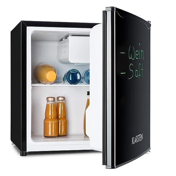 KLARSTEIN Spitzbergen Uni - Nevera, refrigerador, Marcador para Escribir en la Puerta, 90 l, 2 estantes de Vidrio, Compartimentos de Hielo y Verduras, ...