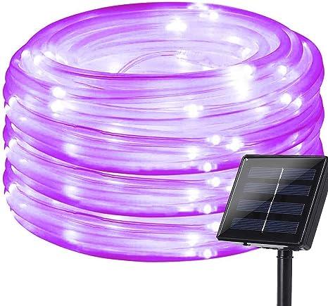 39Feet 100LED Solar Garden Light Waterproof Rope Tube String Lights Lamp Outdoor