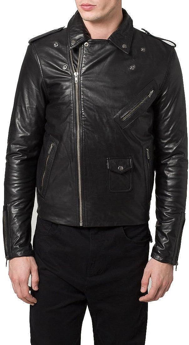 Zafy Leather Mens Lambskin Leather Jacket