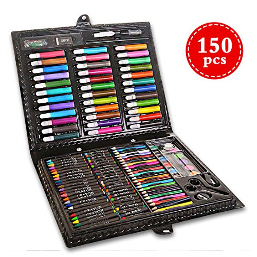 Deluxe Art Set Inspiration Art Case for Drawing and Sketching Color Pen Crayons Case Painting Set Includes Acrylic Paints, Felt Tip Markers, Oil Pastels, Color Pencils
