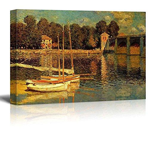 The Bridge of Argenteuil by Claude Monet Impressionist Art