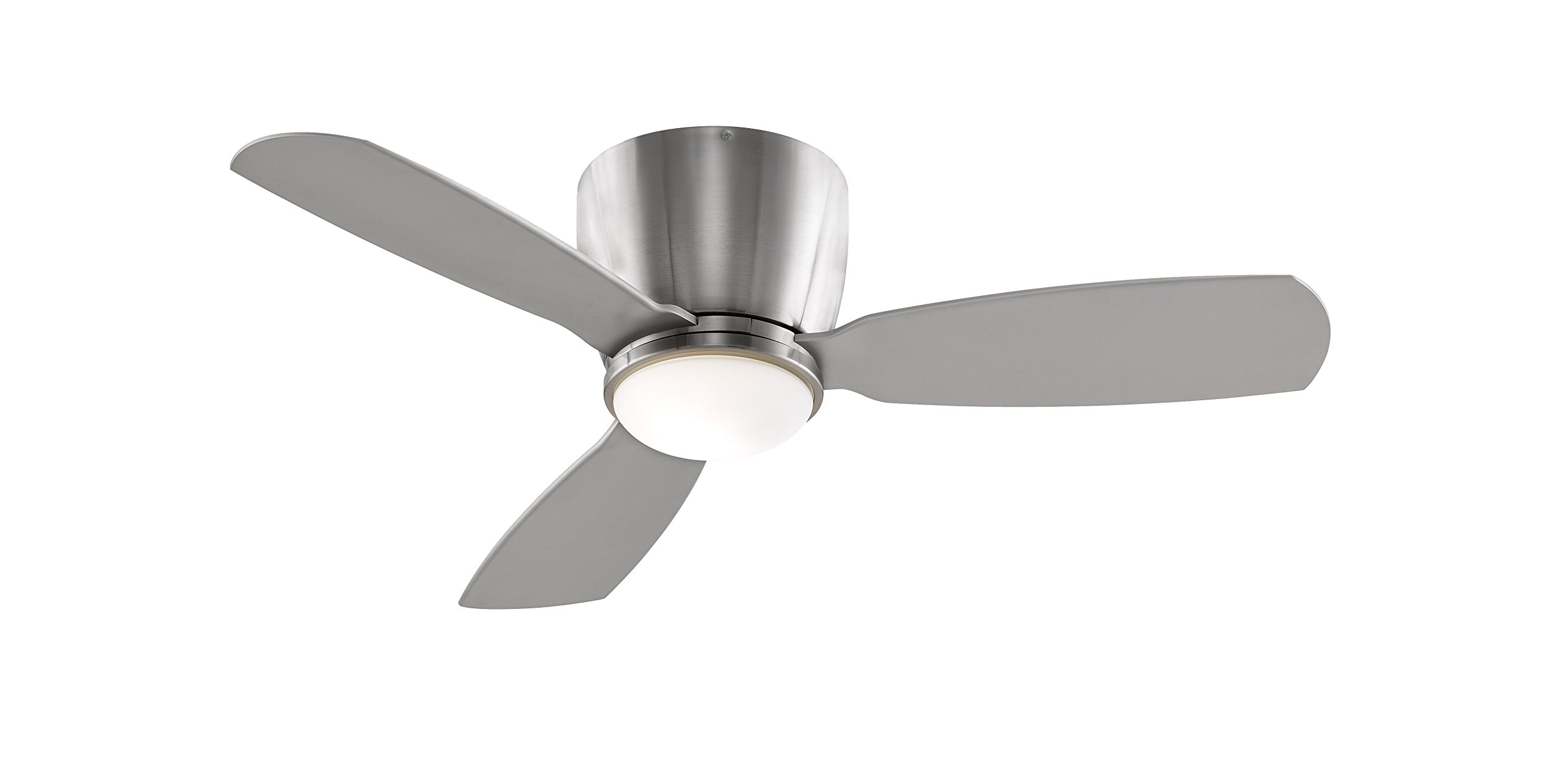 Fanimation FPS7981BN Embrace Ceiling Fan with Light Kit and Remote, 44-inch, Brushed Nickel