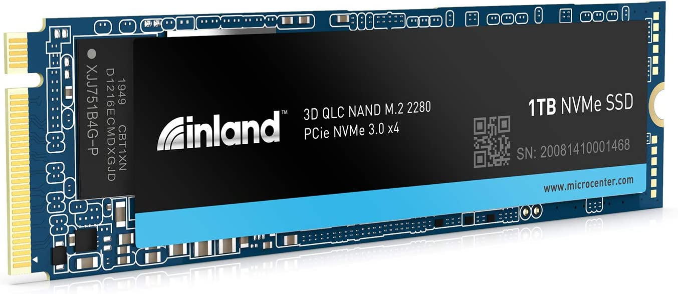 Inland Platinum 1TB SSD NVMe PCIe Gen 3.0x4 M.2 2280 3D NAND Internal Solid State Drive, PCIe Express 3.1 and NVMe 1.3 Compatible, Ultimate Gaming Solutions for PC Computer Laptops (1TB)
