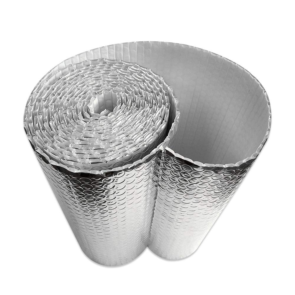 AES Industries 4 x 100 Ft Infrared IR Blocker Insulator Hydro Grow Room Thermal Shield Film