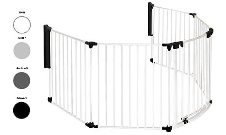 Original IMPAG® Kaminschutzgitter Rondo | 190-310 cm | Automatik-Tür | 90° Feststell-Funktion | Einhandbedienung | Sicherheit