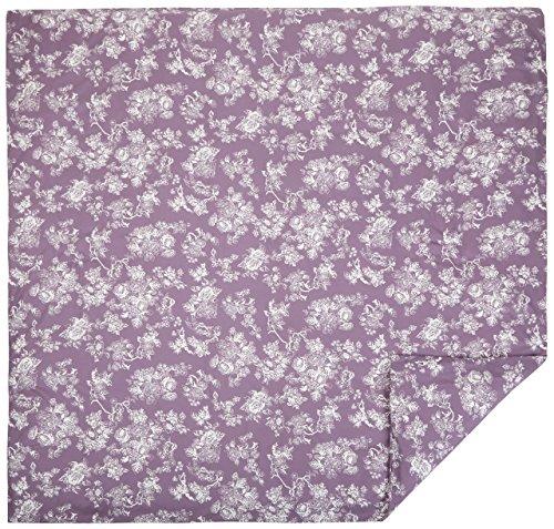 Pinzon Flannel Duvet Cover - King, Floral Lavender