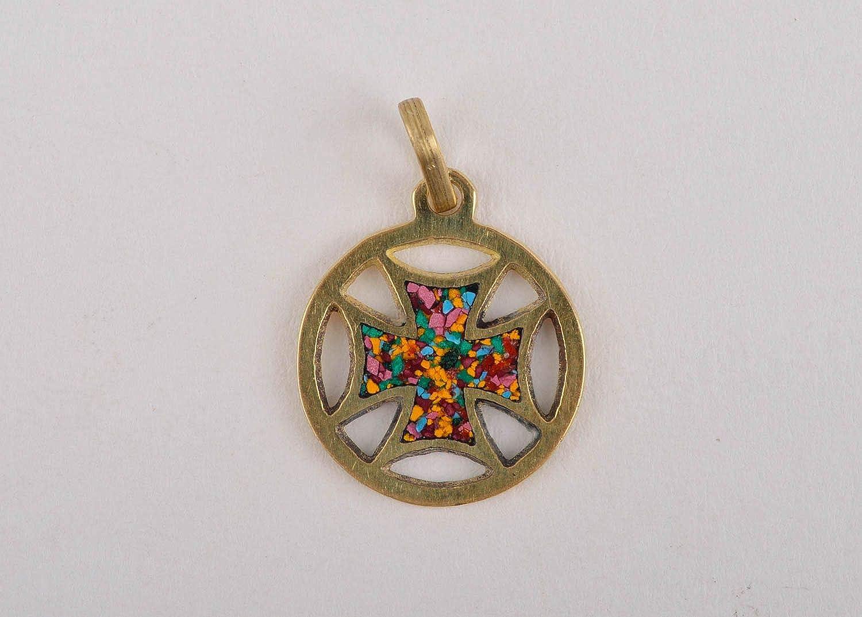 Elegant Pendant with Natural Stones Handmade Brass Pendant Metal ...