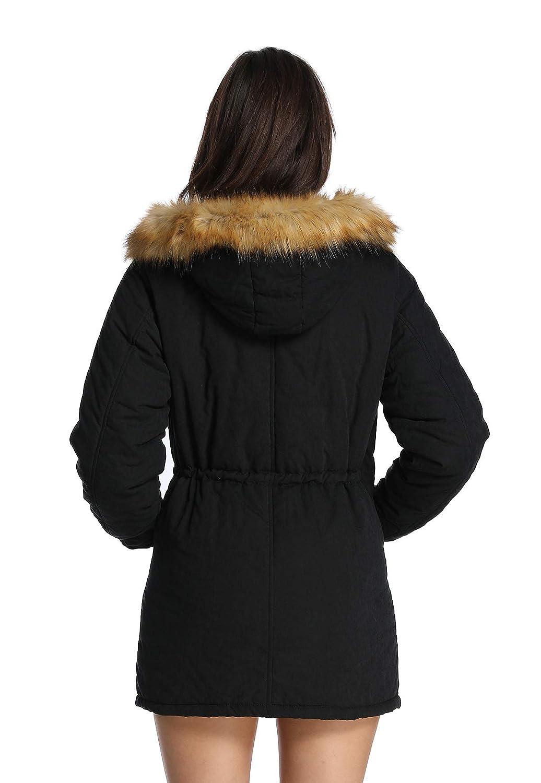 Amazon.com: iLoveSIA abrigo parka con capucha para mujer ...