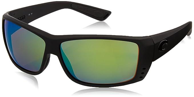 Costa Cat Cay anteojos de sol, negro (Blackout/Green Mirror ...
