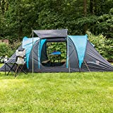 Skandika Hammerfest Family Dome Tent with Sewn-In Groundsheet, 2 Sleeping Cabins, 200 cm Peak...