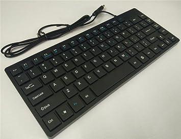 KUKI Teclado de Chocolate Cable Teclado Teclado Teclado USB ...