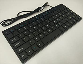 Chocolate Cable del teclado teclado teclado portátil teclado USB Socket pequeño ordenador de sobremesa teclado negro negro: Amazon.es: Informática