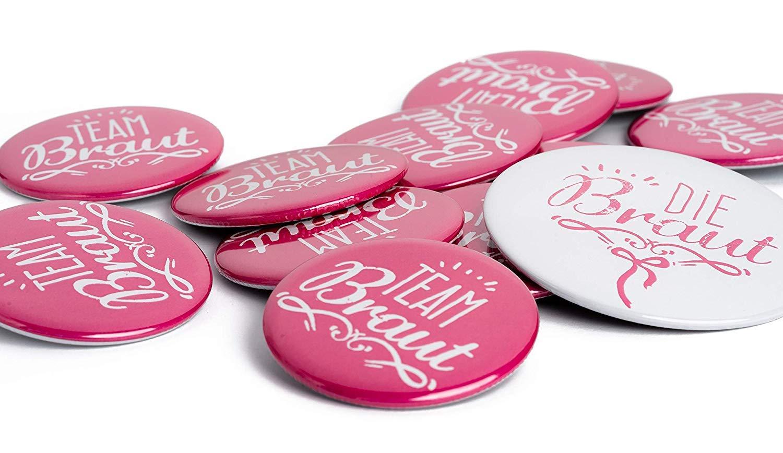 12er JGA Party Buttons Set Das Original Made in Germany