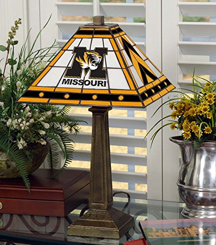 NCAA University of Missouri 23in Mission Lamp, One Size, -