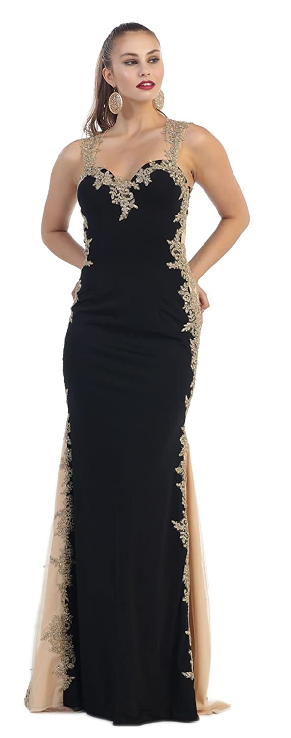 Amazon.com: May Queen MQ1297 Red Carpet Evening Gown: Clothing