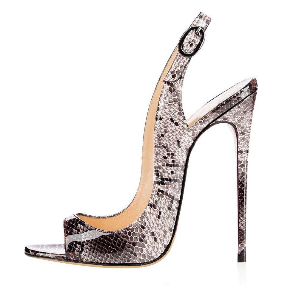 elashe Serpent Femmes Artisan Fashion de Sandales Décolletés Bout Ouverts Chaussures 120mm à Talon Haut de 120mm Serpent 0d007b6 - robotanarchy.space