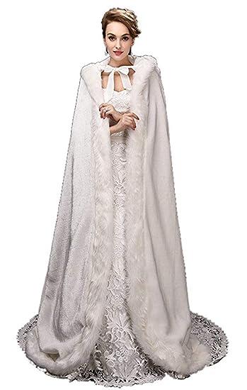 Weddings & Events Mode Wunderschöne Cape Winter Braut Shrug Hochzeit Jacke Lange Mantel Wraps Mit Kapuze Party Wraps Jacke
