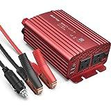 BESTEK カーインバーター 500W シガーソケット 車載充電器 USB 2ポート ACコンセント 2口 DC12VをAC100Vに変換 赤 MRI5010BU