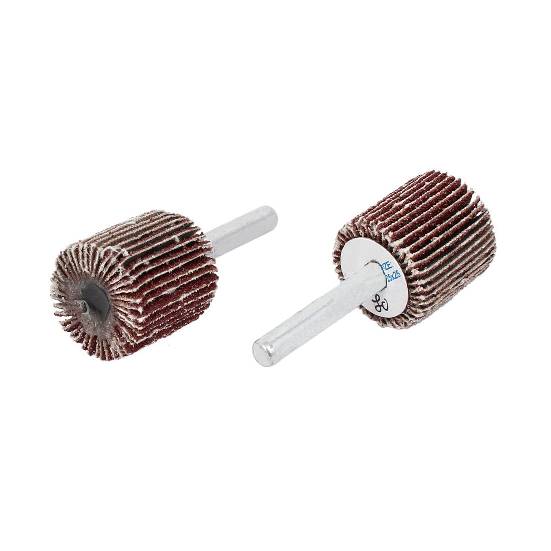 uxcell6mmx25mmx25mm Cylinder Head Flap Wheels Polishers Sanding Buffing Tools 2pcs