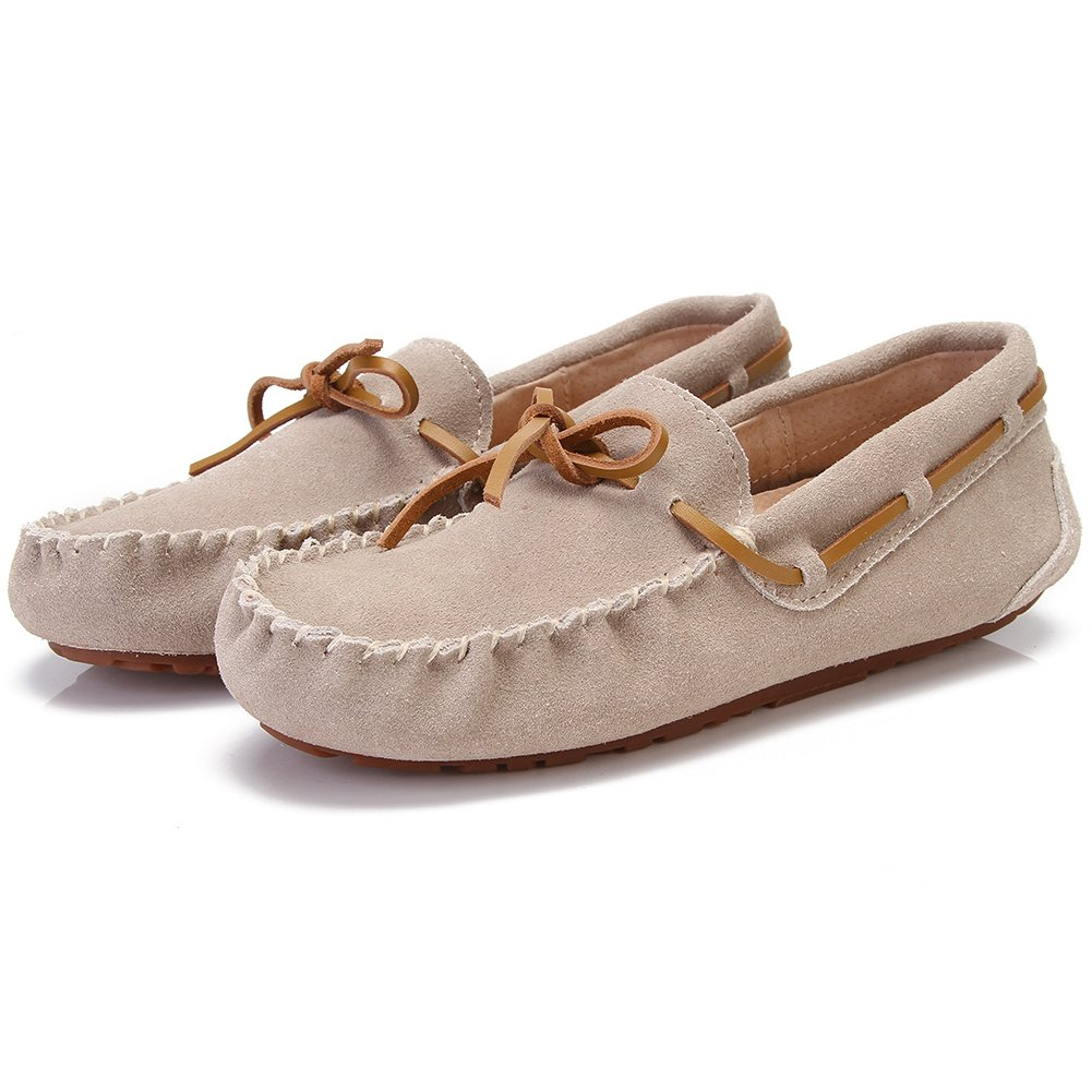 Urbancolor Womens Genuine Leather Suede Casual Moccasins Driving Loafers Slip On Flat Shoes
