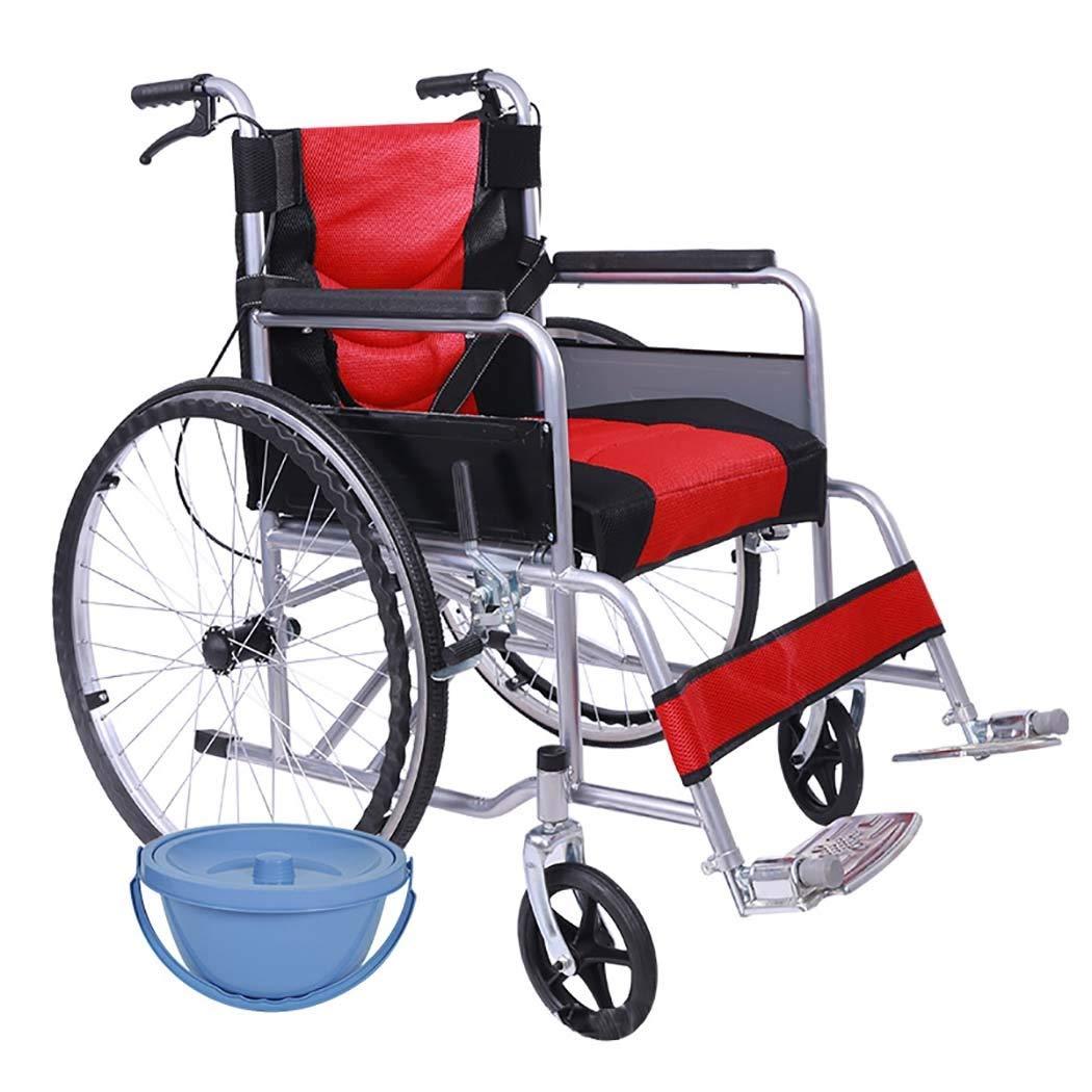 最新最全の HSBAIS 大人用の軽量折りたたみ、丈夫な耐久性のあるスチールパイプ Seat B07LF6SMLB、トイレットボウル付き,red_18