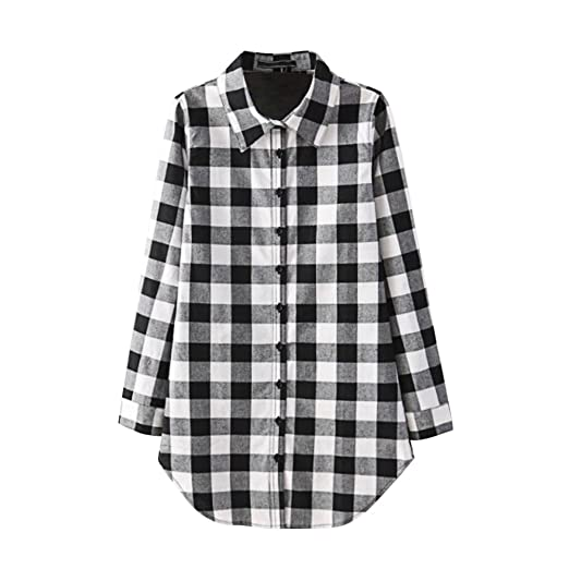bd15d556 Lisli Women's Checkered Buffalo Casual Button-Down Plaid Shirt Country  Style at Amazon Women's Clothing store: