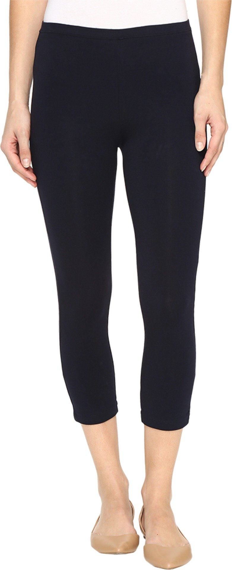HUE Women's Cotton Capri Legging Navy Large