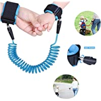Yohoo Kids Safety Leash Anti-Lost Wrist Link Harness Strap Green Safety Wristband 1.5M/2.5M for Baby,Children, Child Rope Leash Walking Hand Belt (2.5M, Blue)