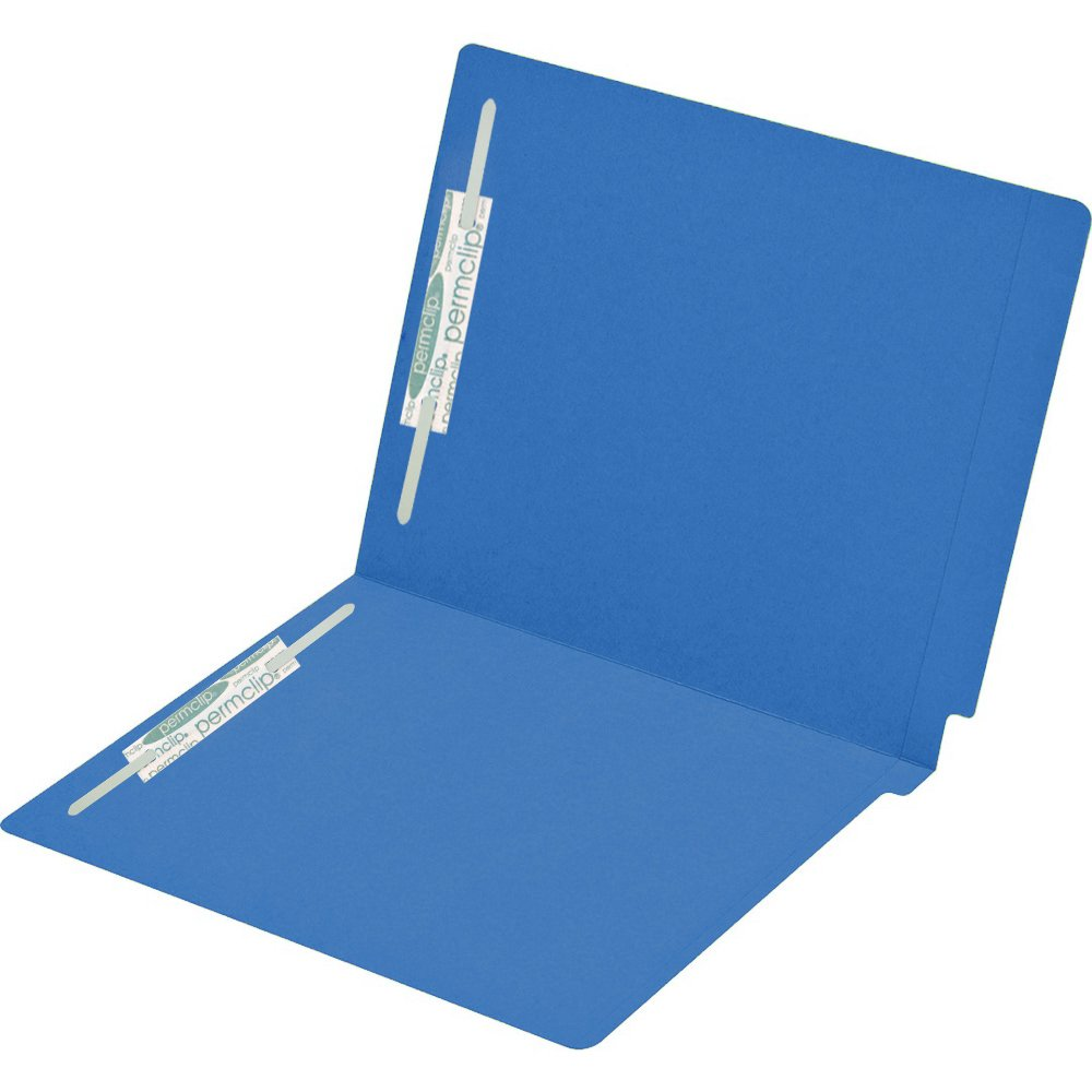 11pt Red Reinforced AMZfiling Colored File Folders with 2 Fasteners- Printed End Tab Letter Size 50 per Box