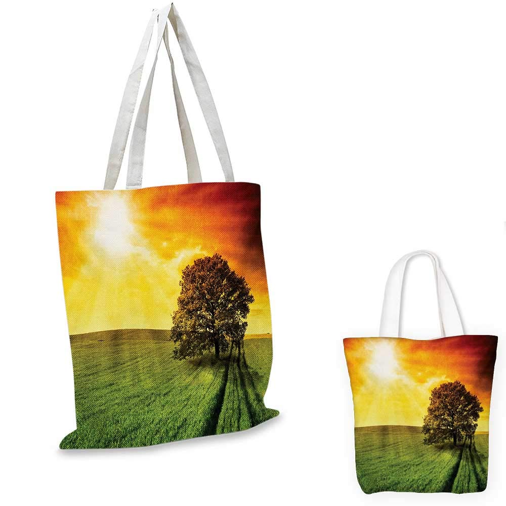 Nature canvas messenger bag Tree Grass at Park Herbs Summer Season Eco Environment Mother Earth Image canvas beach bag Fern Green Black 16x18-13