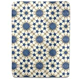 Star Mosaic Alhambra Wall Fitted Sheet: King Luxury Microfiber, Soft, Breathable