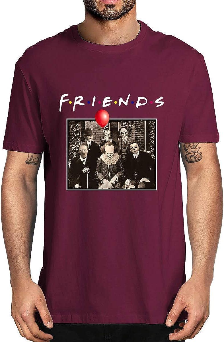 Friends Horror Halloween T-Shirt Michael Myers Jason Horror Scary Movies Gift Tee Shirt for Women Men