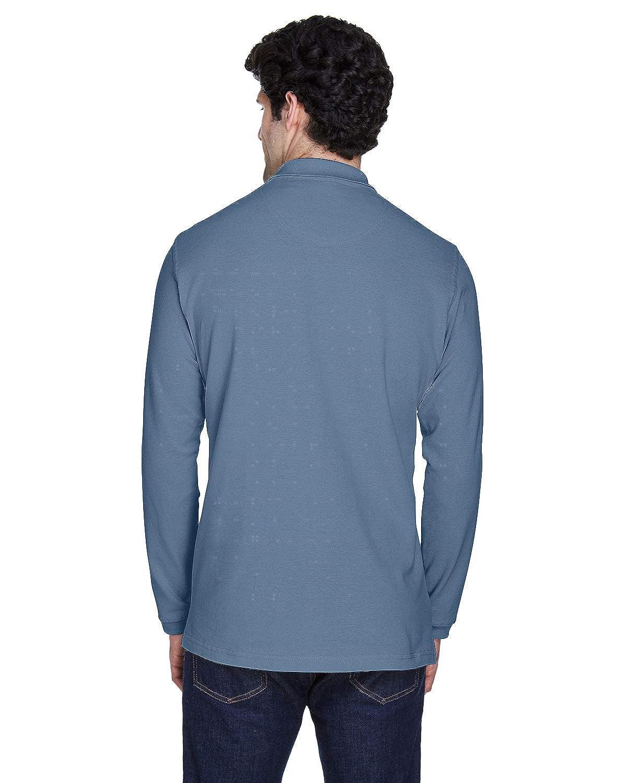 Bulk Storm Blue A Product of UltraClub Adult Long-Sleeve Classic Piqu/é Polo