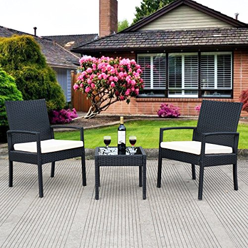 3 pcs Outdoor Rattan Patio Furniture Set - By Choice Products by By Choice Products (Image #5)