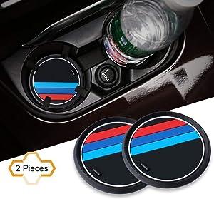 SONAODM 2PCS M Line Car Interior Accessories Anti Slip Cup Mat for 1 Series/ 2 Series/ 3 Series / 4 Series/ X1 (Small)