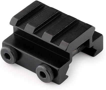 "2PCS 1//2/"" 3 Slot Low Profile Riser 20mm WEAVER PICATINNY Rifle Base Scope Mount"