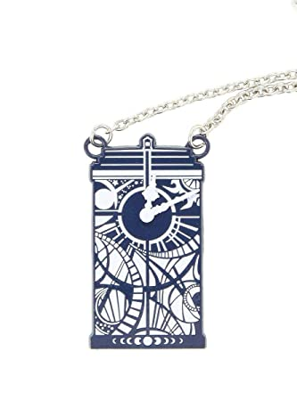 DR WHO TARDIS CHARM PENDANT Silver Tone Necklace Official Licensed