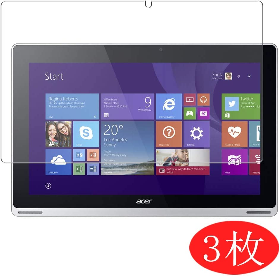 """【3 Pack】 Synvy Screen Protector for Acer Aspire Switch 11 SW5-171 / SW5-171p 11.6"""" TPU Flexible HD Film Protective Protectors [Not Tempered Glass]"""
