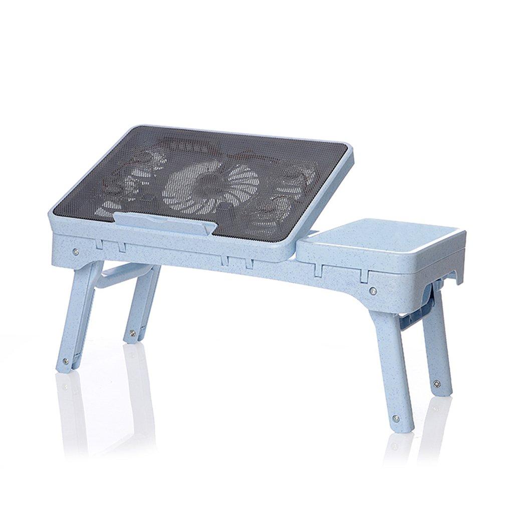 LQQGXLPortabler Klapptisch Einfacher Laptopschreibtisch, fauler Schreibtisch, zusammenklappbarer Tisch, (Farbe   Schwarz Blau