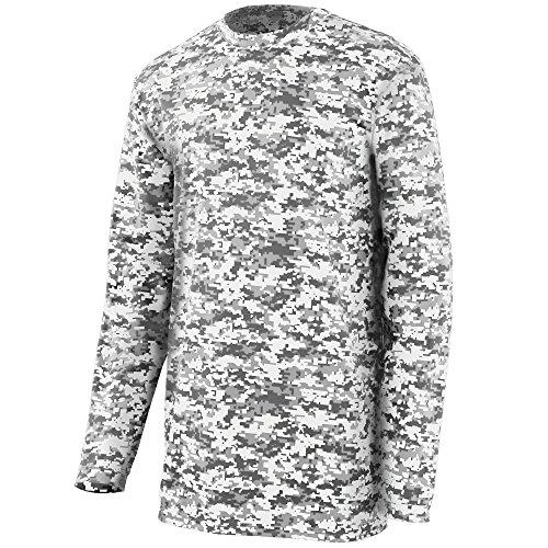 Augusta Sportswear MEN'S DIGI CAMO WICKING LONG SLEEVE T-SHIRT XL White - T-shirt Chance White